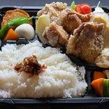 そば屋の鶏竜田弁当