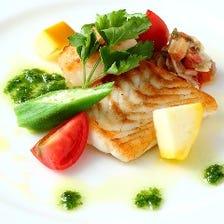 少し贅沢にランチに!お料理6品 厳選黒毛和牛ロースステーキ&お魚ランチコース