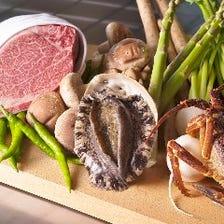 ◆厳選食材をそのまま活かした鉄板焼