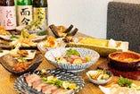 ゲストの人数やご予算に応じてオーダー可能な宴会コース料理