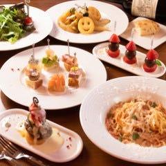 【120分飲放付】アクアパッツァや熟成サルシッチャが付いた充実コース全10品4,000円