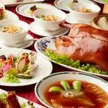 鮑・フカヒレ・北京ダックの豪華食材に舌鼓『三大珍味コース』