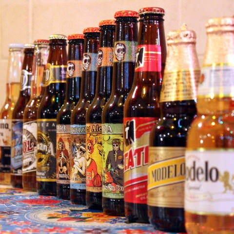 ラベルも楽しい豊富なメキシコビール