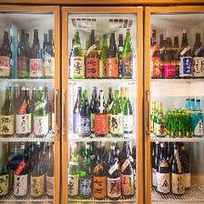 50種類の日本酒を用意!
