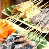 常時10種以上。種類豊富な魚串をご堪能ください
