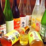 梅酒も常時10種類ご用意しております。梅酒付きの単品飲み放題も