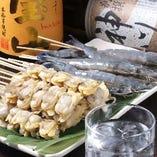 魚串は海老やししゃもなど多数ご用意しております