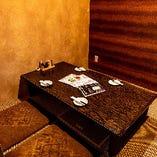 ゆったりくつろげる座敷タイプの完全個室
