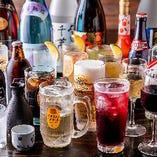 多彩なラインナップの単品飲み放題は4種類ご用意