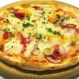 選べる3種類のピザ、オススメです♪
