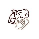 【4】お客様が直接手を触れる箇所は 1日に数回、消毒用アルコール等で吹き上げを実施しております