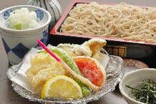 丹波鶏と旬野菜天ざる