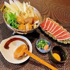 《鴨鍋コース》 生のままの新鮮な鴨肉を使用した鴨鍋が楽しめるコース 全6品 6,500円(税サ別)