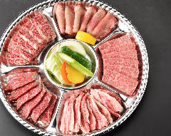 和牛焼肉5種盛合せ(計500g/目安:2~3名分)