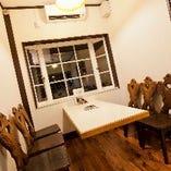 テーブル席(6名掛け×6卓)