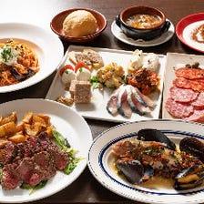 美味しいイタリア料理を囲んで