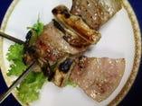 地元伊勢崎産氷室豚バラ肉の串焼き