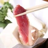 【 フランス産鴨肉のしゃぶしゃぶ 鍋 】冬の寒さを忘れる、体が、温まる一品です。