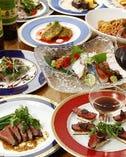 地元伊勢崎産の食材と海の幸をふんだんに使ったお料理コース