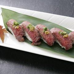 和牛のあぶり寿司