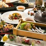 旬食材が愉しめる贅沢ディナーコース