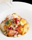 焼きベーコンと温かい秋のお芋サラダ