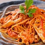 ワタリ蟹のトマトクリームスパゲティ