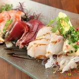 鮮魚のカルパッチョ5種盛り合わせ