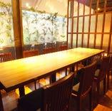 6~8名様用テーブル個室です。歓送迎会にも人気の高いお席です。