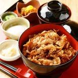 紀州岩清水豚のすき焼き丼