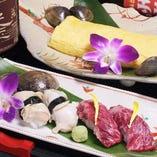 松阪牛の炙り寿司 みえ尾鷲の海洋深層塩で