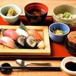 お昼の鮨六の御膳 限定20食 1,100円
