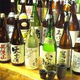 プレミアム飲み放題+500円で、なんと厳選日本酒が日本酒飲み放題に!