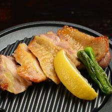 比内地鶏の鉄板焼き