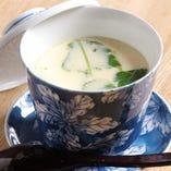 貝出汁の茶碗蒸し
