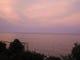 たった5分しか観る事ができない夕焼け 海までピンクに