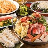◆鉄鍋餃子・もつ鍋を堪能できる博多宴会コースは3,300円から♪