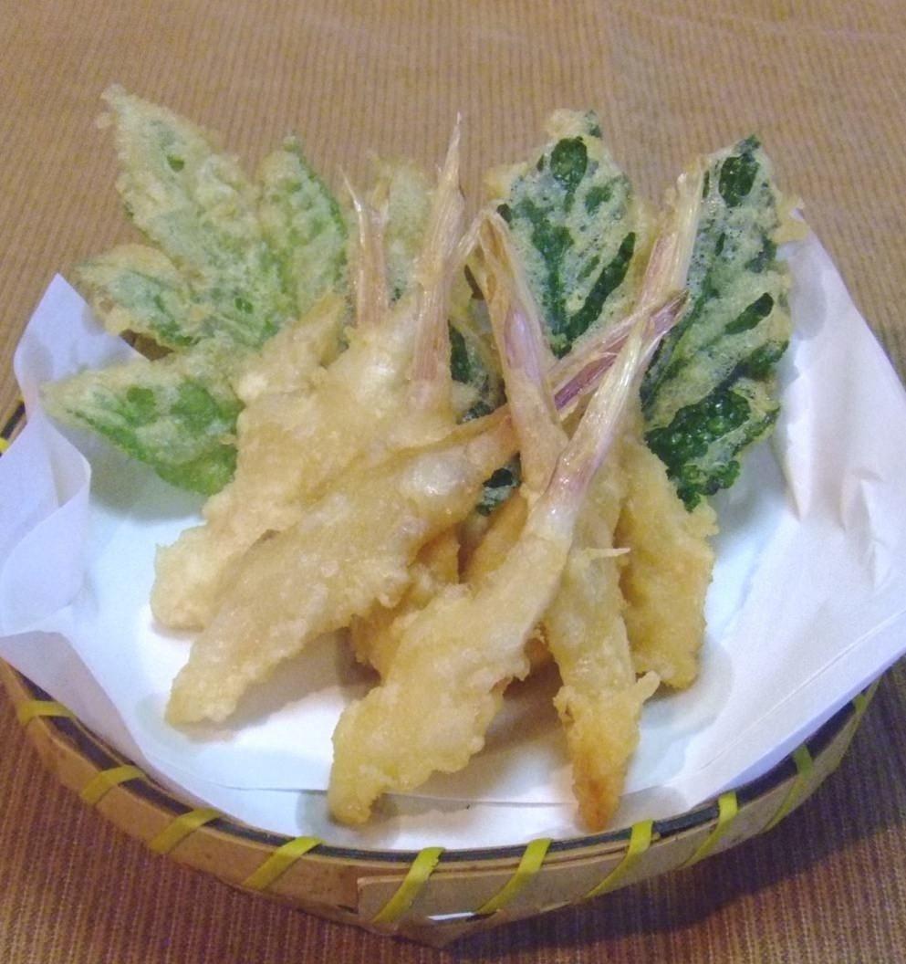 四季の喜びを天ぷらで味わう。