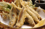 稚鮎の天ぷら