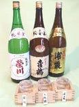 夏の利き酒セット 当店お勧めの銘酒をチョッとづつお楽しみいただけます。