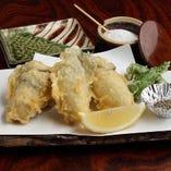 【季節の天ぷら】牡蠣の天ぷら