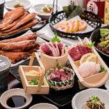 自慢の九州名物料理で楽しいひと時をお過ごしください