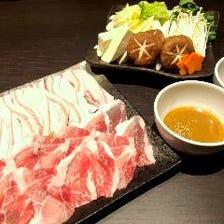 【料理のみ】県産あぐーしゃぶしゃぶコース<全6品>宴会・飲み会