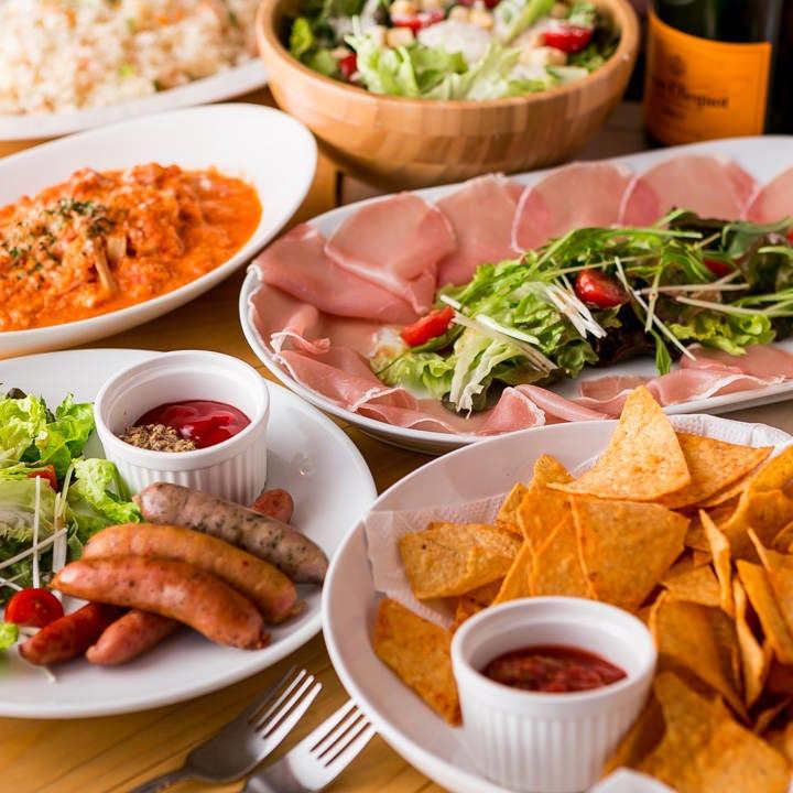 人気の料理が集結するパーティープランは飲み放題付3,000円から