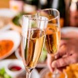 楽しいパーティーの始まりに!豊富なシャンパンをご用意