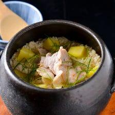 季節の土鍋焚きご飯