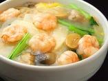 芝エビあんかけ丼 さっぱり塩味で、えびのプリプリ感がたまらない、やさしい味のあんかけ丼