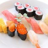 職人が一貫一貫ココロを込めて握る本格寿司を味わう♪