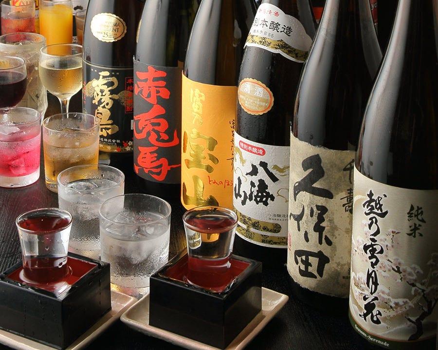 飲放題グレードUPで地酒&銘酒も 楽しめる上質宴会が叶います!