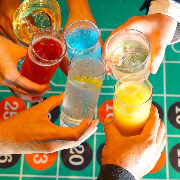 お酒とゲームを楽しみ放題4,000円♪